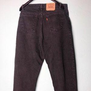 Vintage black levi 550's